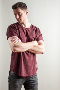 MUTED SHIRT MIT BRUSTTASCHE BORDEAUX - Who's Rob?
