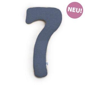 my7  Still- und Seitenschläferkissen -NEU Melange  Navyblau  Jersey 150 cm x 80 cm   - Theraline