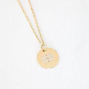 Halskette 'MOM WOW' aus vergoldetem Edelstahl inkl. Box - Oh Bracelet Berlin