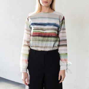 Popeline-Bluse mit Schleife - Mila.Vert