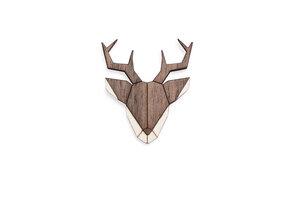 Brosche aus Holz - Hirsch | Mode Schmuck - BeWooden