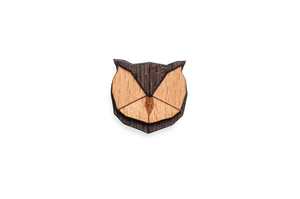 Holzanstecker Owl Brooch - BeWooden