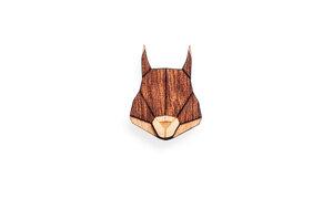 Holzanstecker Squirrel Brooch - BeWooden
