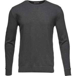 Strickpullover - Basic O-Neck Cotton/Cashmere - Dark Grey Melange - KnowledgeCotton Apparel