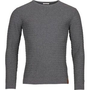 Strickpullover - Small Diamond Knit - Dark Grey Melange - KnowledgeCotton Apparel