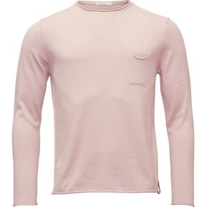 Strickpullover - Fine single knit with roll edges - Pale Mauve - KnowledgeCotton Apparel