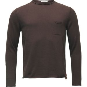 Strickpullover - Fine single knit with roll edges - Decadent Chokolade - KnowledgeCotton Apparel
