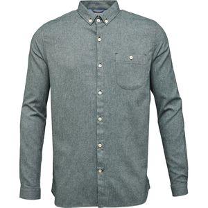 Melange Effect Flannel Shirt - Green Gables - KnowledgeCotton Apparel