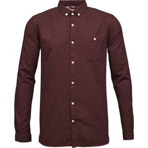 Melange Effect Flannel Shirt - Decadent Chokolade - KnowledgeCotton Apparel