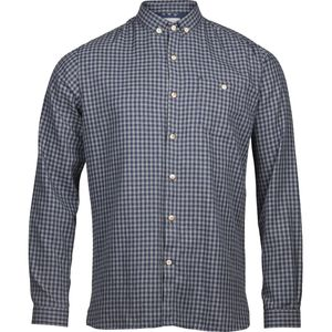 Flanellhemd - Small Checked Flannel Shirt - Total Eclipse - KnowledgeCotton Apparel