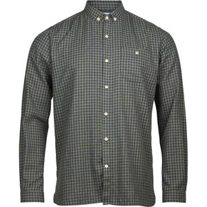 Flanellhemd - Small Checked Flannel Shirt - Sage - KnowledgeCotton Apparel