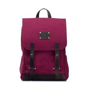 Rucksack - Mau's Backpack - Burgundy Canvas - O MY BAG