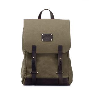 Mau's Backpack - Olive waxed Canvas - O MY BAG