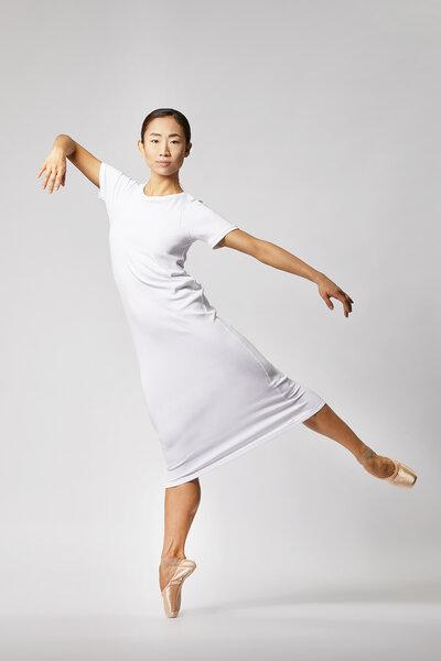 f909ff8bc8432b LUXAA - Basic Jersey Kleid aus Bio-Baumwolle - Weiß