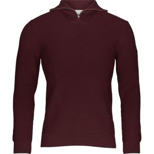 Zip Neck Rib Knit - Decadent Chokolade - KnowledgeCotton Apparel