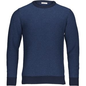 Strickpullover - Striped Reverse Knit - Insigna Blue - KnowledgeCotton Apparel