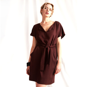 "Kleid ""Toni"" in Bordeaux Rot - WiDDA berlin"