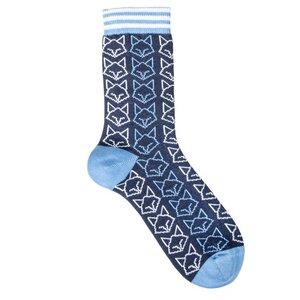 Katzen Socken hellblau Biobaumwolle - VNS Organic