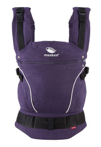 NEU Manduca Babytrage Premium Bundle + ZipIn Ellipse+ Size-It,Pure Cotton Purple - Manduca