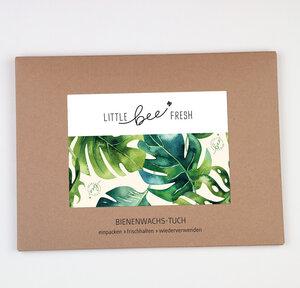 Bienenwachstuch Set L/M/S - Jungle grün - little bee fresh