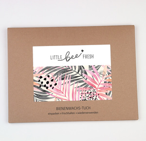 Bienenwachstuch Set L/M/S - Jungle rosa - little bee fresh
