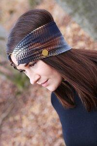 AMBER - 3in1 Stirnband - Golden Snake - dreisechzig