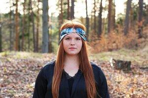 AMBER - 3in1 Stirnband - Blue Batik - dreisechzig