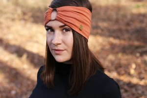AMBER - 3in1 Stirnband - Orange - dreisechzig