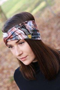 Stirnband im Turbanlook - Colored Brushmarks - dreisechzig