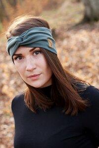 Stirnband im Turbanlook - Forest Green - dreisechzig
