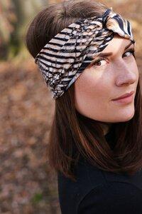 Stirnband im Turbanlook - Sandy Lines - dreisechzig