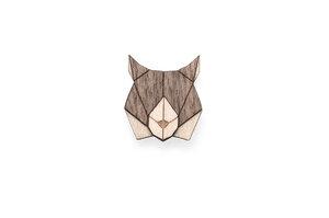Holzanstecker Lynx Brooch - BeWooden