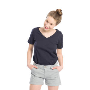 Chino Shorts Damen Grau - bleed