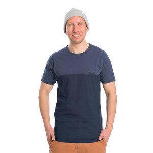Wave T-Shirt Blau - bleed