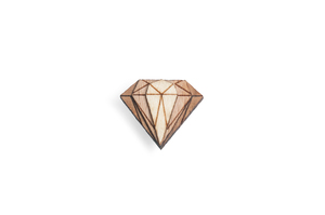 Holzanstecker Diamond Lapel - BeWooden