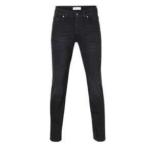 Mens Slim Straight Jeans Black Kyanos - goodsociety