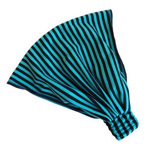 auffächerbares Haarband, marine/türkis geringelt - bingabonga