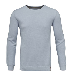 Pique crew neck knit GOTS Skyway Blau - KnowledgeCotton Apparel