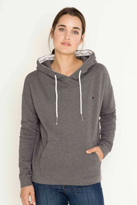 Philline Kontrast Sweat Hoodie - grey melange - SHIRTS FOR LIFE