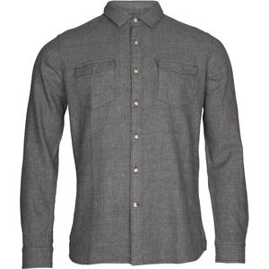 Flanellhemd - Diagonal flanel shirt - Total Eclipse - KnowledgeCotton Apparel