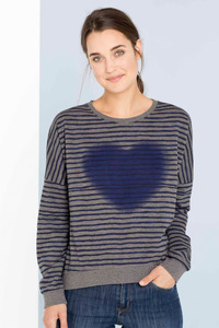 Kathi Stripe Oversize Sweatshirt - blue stripe - SHIRTS FOR LIFE