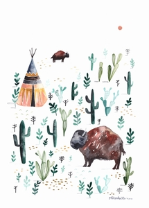 Poster Bison - Gretas Schwester