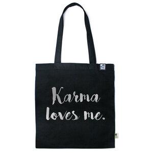 Baumwolltasche Karma loves me. - Gary Mash