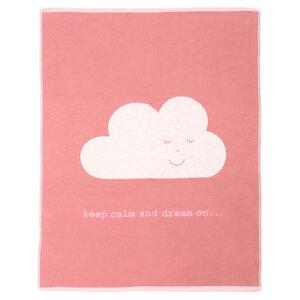 Babydecke 70 x 90, Wolke rosa - David Fussenegger
