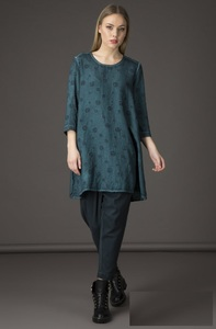 Spray Dyed Bubble Tunic - Teal - Grizas