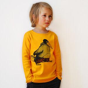 Kinder longsleeve 'Blaubeer Stig' gelb - Cmig