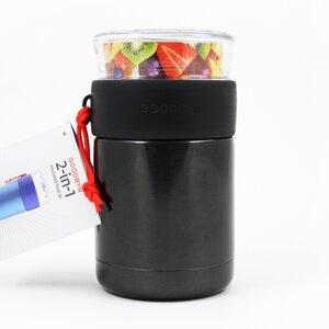 Isolierte Lunchbox aus Edelstahl 470ml schwarz - Goodbyn