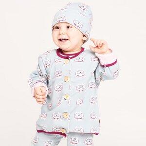 """Gefüttertes Babyjäckchen """"Eulennest"""" aus 100% Bio-Baumwolle - Cheeky Apple"""