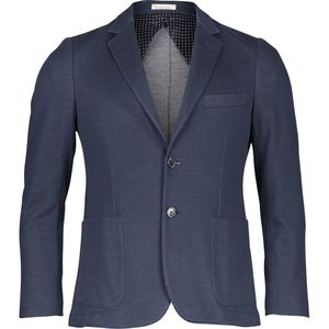 Solid coll knitted blazer - Total Eclipse - KnowledgeCotton Apparel