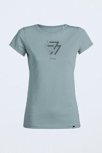 "CASSIA ""TRIANGLE"", Bio T-Shirt Circle für Frauen - Green-Shirts"